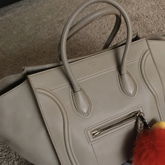 Celine Handbags - Beige Celine phantom luggage bag